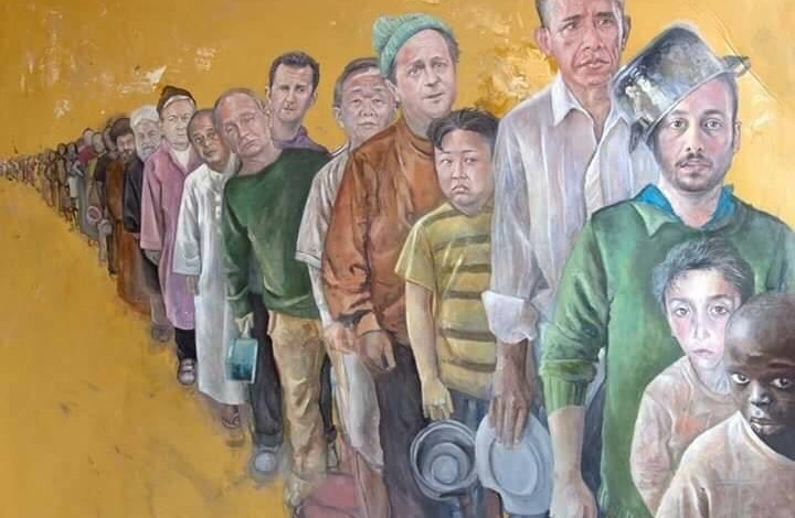 فنان سوري ألمانيا يحول رؤساء